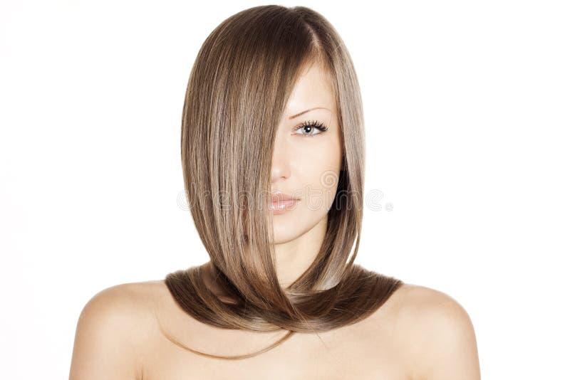 Piękna kobieta. długie włosy obraz royalty free
