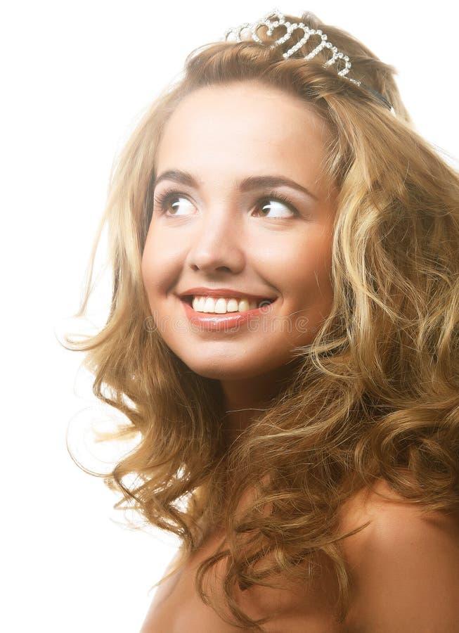 piękna kobieta kręcone włosy obraz stock