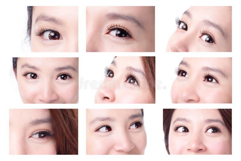 piękna kobieta oko obraz royalty free