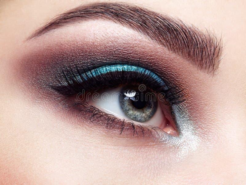 piękna kobieta oko zdjęcie royalty free
