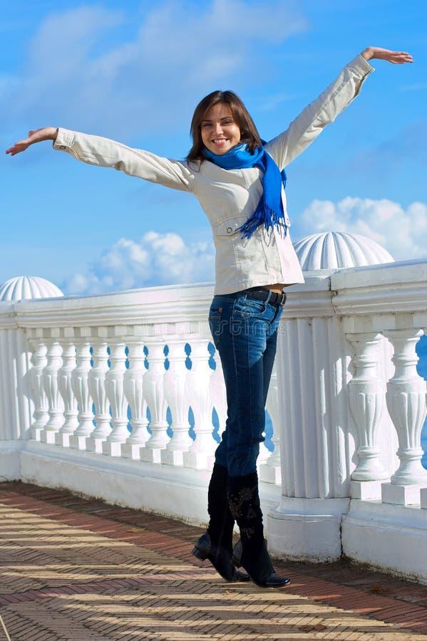 piękna kobieta park obrazy royalty free