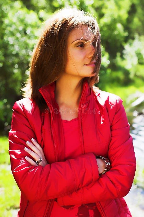 Piękna kobieta plenerowa fotografia royalty free