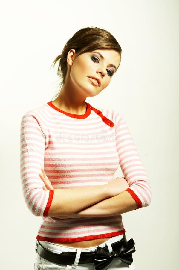 piękna kobieta sweterek zdjęcia stock