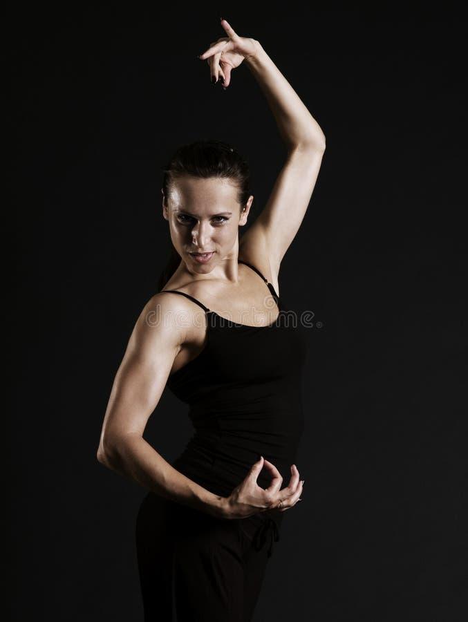 piękna kobieta tańcząca fotografia stock