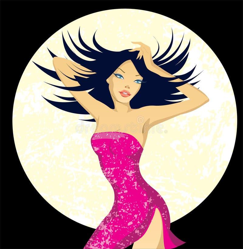 piękna kobieta tancerzem. ilustracji