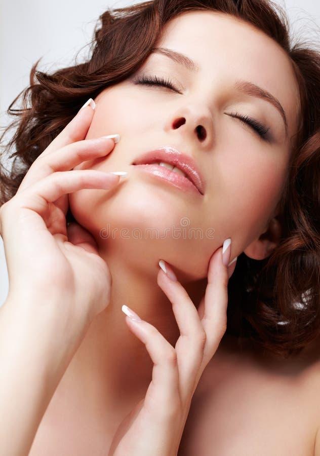 Piękna kobieta z manicure'em obrazy stock