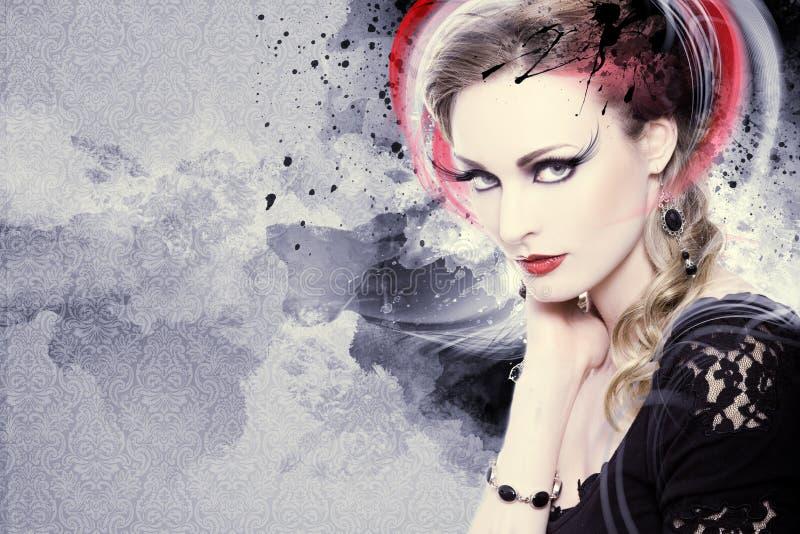 Piękna kobiety grafika zdjęcie stock