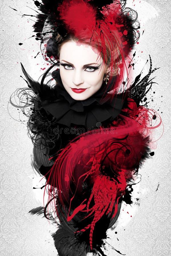 Piękna kobiety grafika zdjęcie royalty free