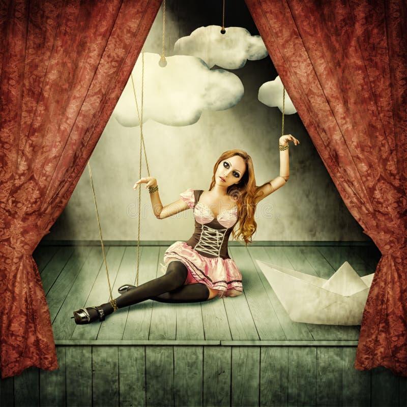 Piękna kobiety marionetka