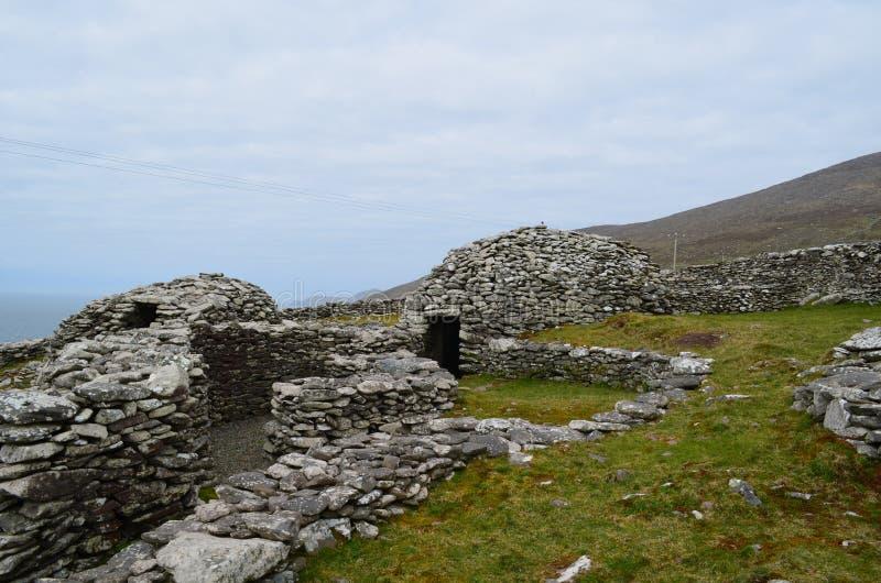 Piękna kolekcja Ulowe budy w Irlandia zdjęcia stock