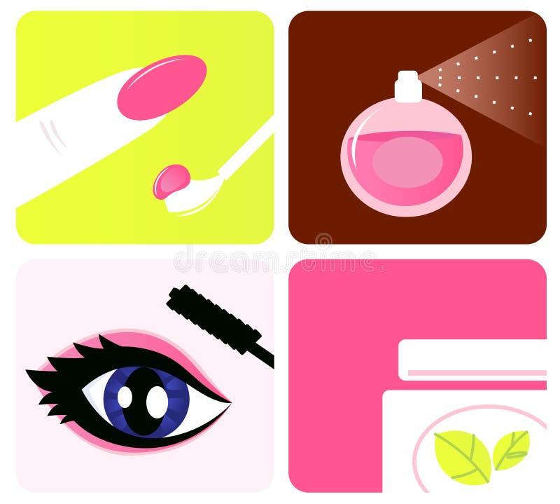 piękna kosmetyczny ikon makeup royalty ilustracja