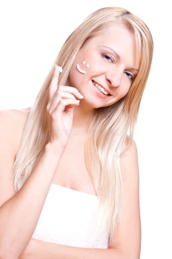piękna kremowa kobieta zdjęcia stock