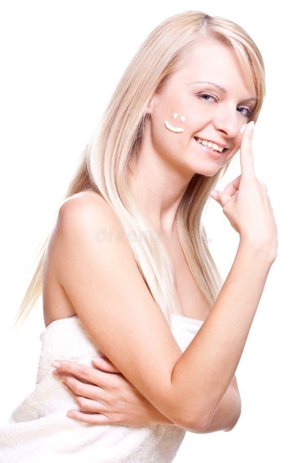 piękna kremowa kobieta zdjęcia royalty free