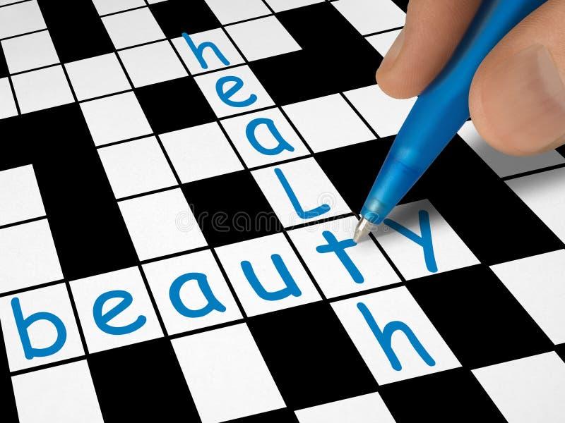 piękna krzyżówkę zdrowia obraz stock
