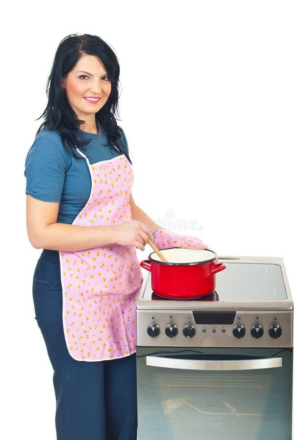 piękna kulinarna gospodyni domowa zdjęcia royalty free