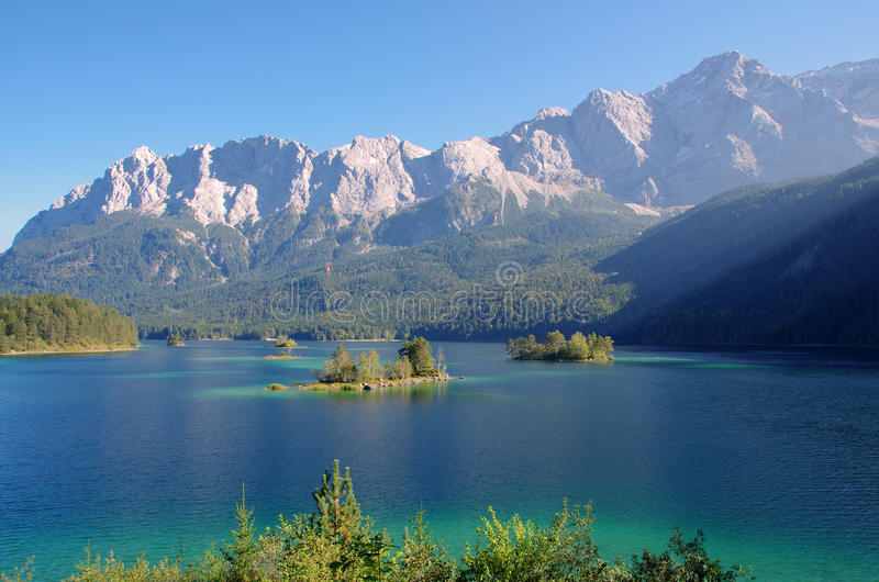 piękna lake góry obraz stock