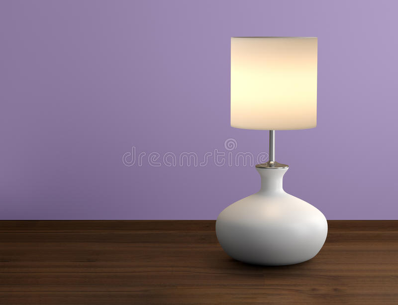 Piękna lampa na stołowym worth fotografia royalty free