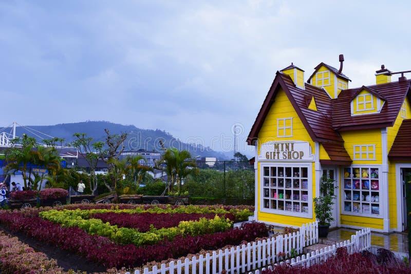 Piękna lanscape od ogrodowej góry w lembang Bandung fotografia royalty free