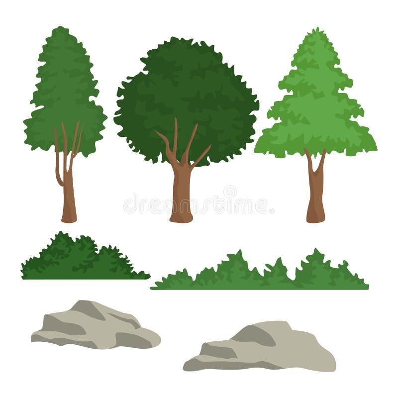 Piękna lasowa scena ilustracji