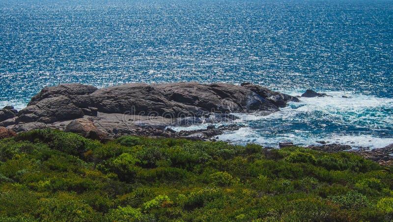 Piękna linia brzegowa blisko Margaret rzeki w zachodniej australii obrazy stock