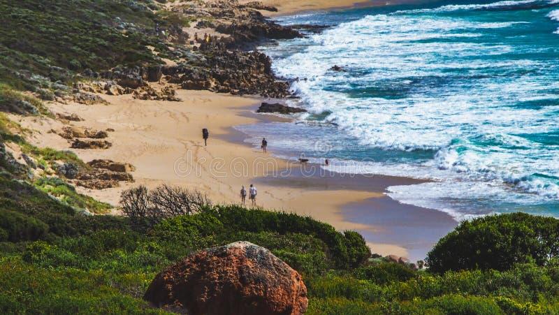 Piękna linia brzegowa blisko Margaret rzeki w zachodniej australii obrazy royalty free