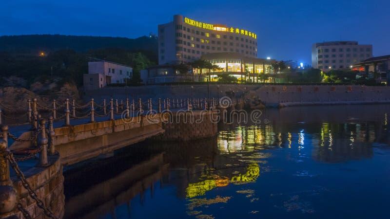 Piękna linia brzegowa Weihai obraz royalty free