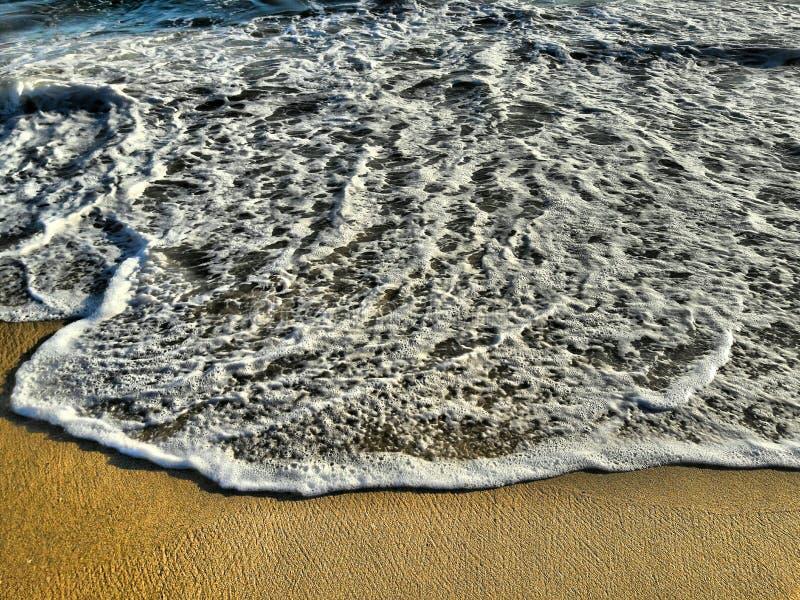 Piękna linia brzegowa zmierzch plaża Kalifornia zdjęcie royalty free