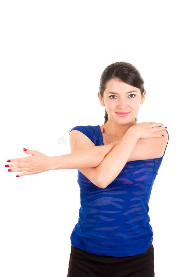 Piękna młoda łacińska dziewczyna excercising obraz royalty free