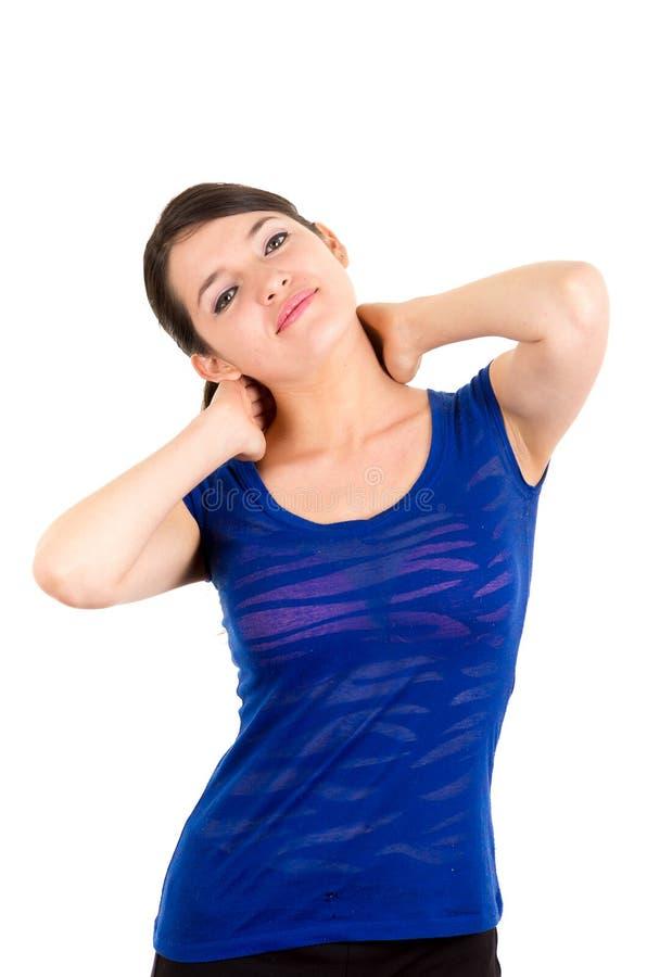Piękna młoda łacińska dziewczyna excercising zdjęcie royalty free