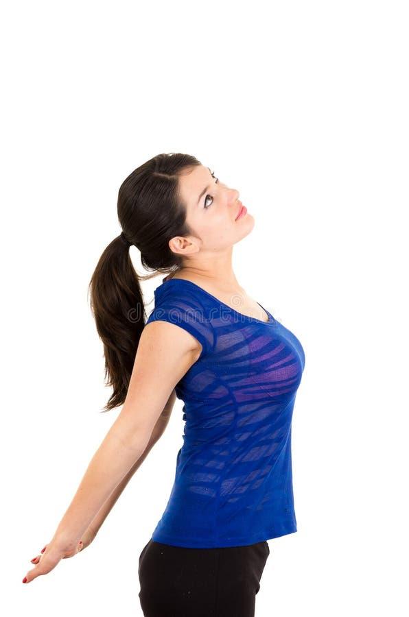 Piękna młoda łacińska dziewczyna excercising zdjęcie stock