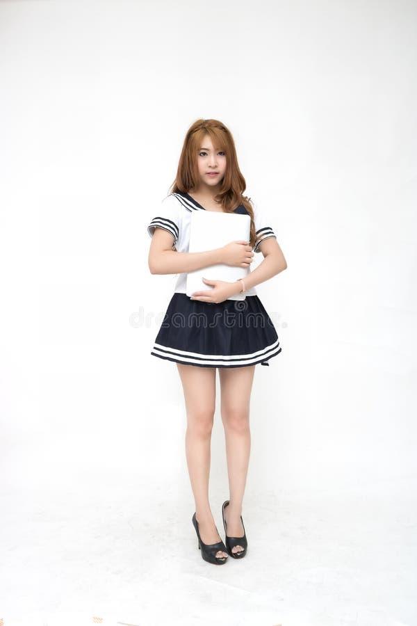 Piękna młoda azjata szkoły dziewczyna zdjęcia royalty free