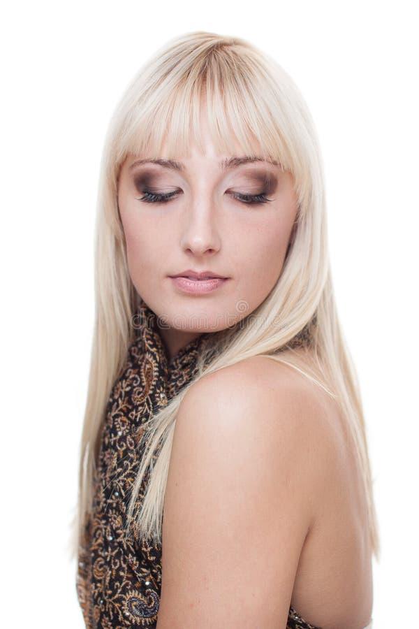 Piękna młoda blond kobieta zdjęcia royalty free