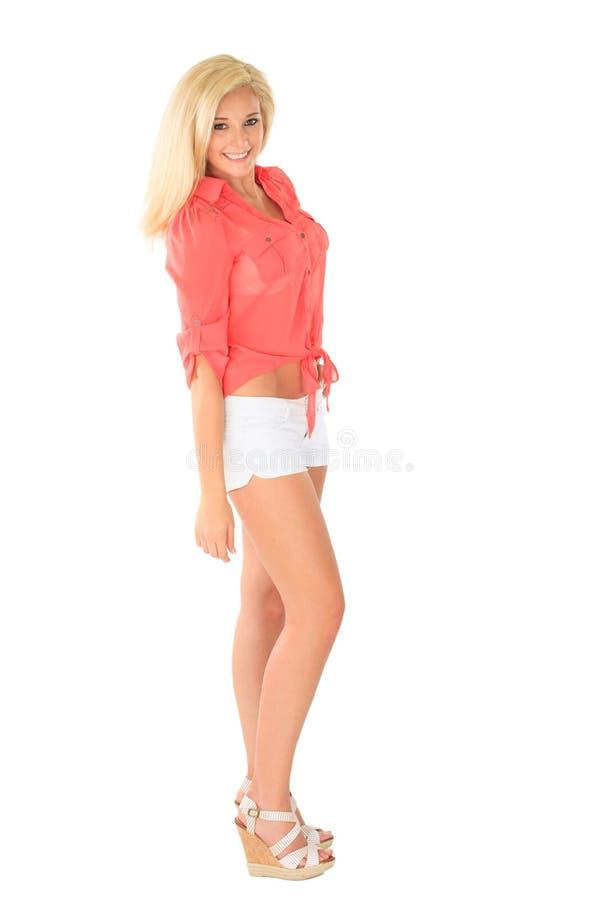 Piękna młoda blond kobieta obraz royalty free