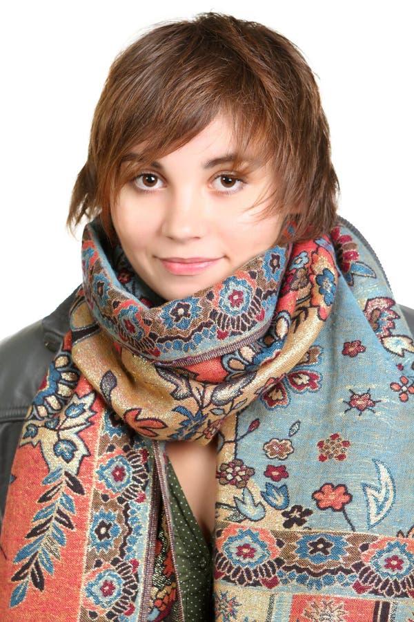 Piękna młoda brunetka obrazy royalty free