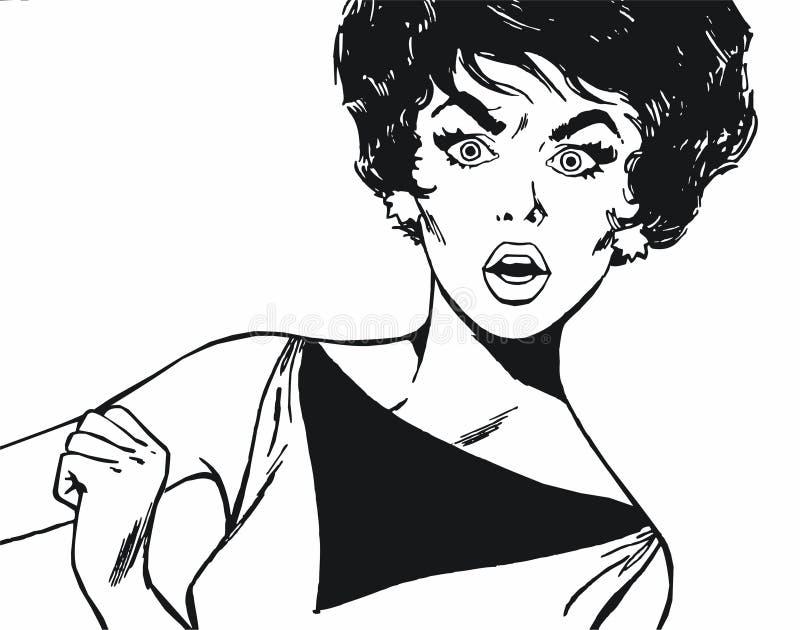 Piękna młoda kobieta ilustracji