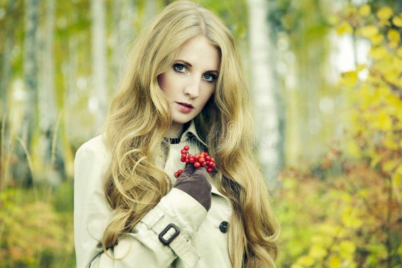 Piękna młoda kobieta moda portret fotografia stock