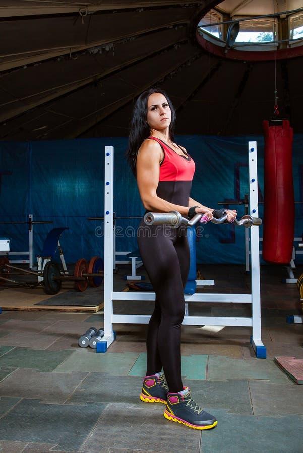 Piękna młoda kobieta podczas sprawności fizycznej obrazy stock