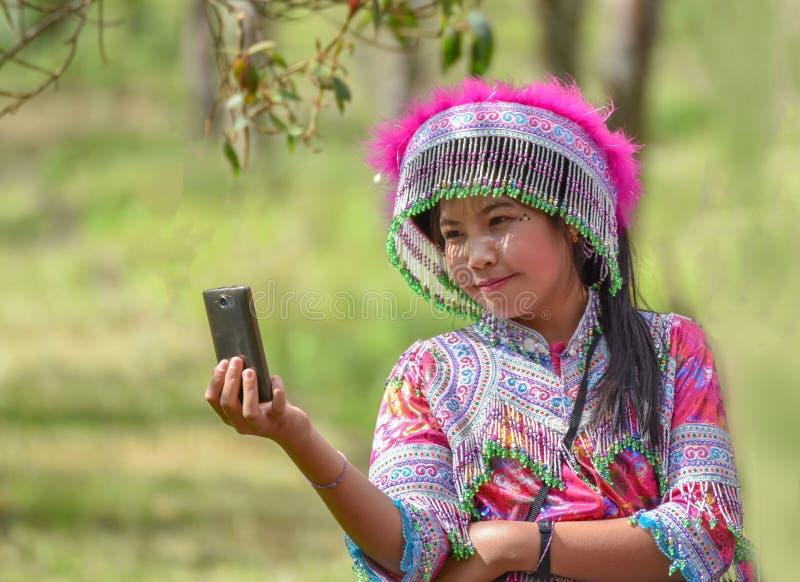 Piękna młodej kobiety selfie fotografia obraz stock