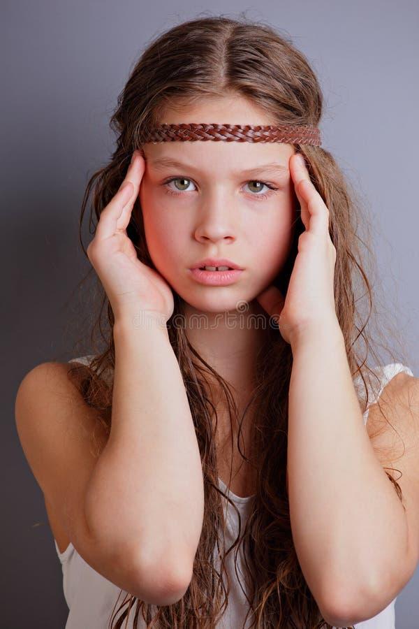 Piękna mała dziewczynka obraz royalty free