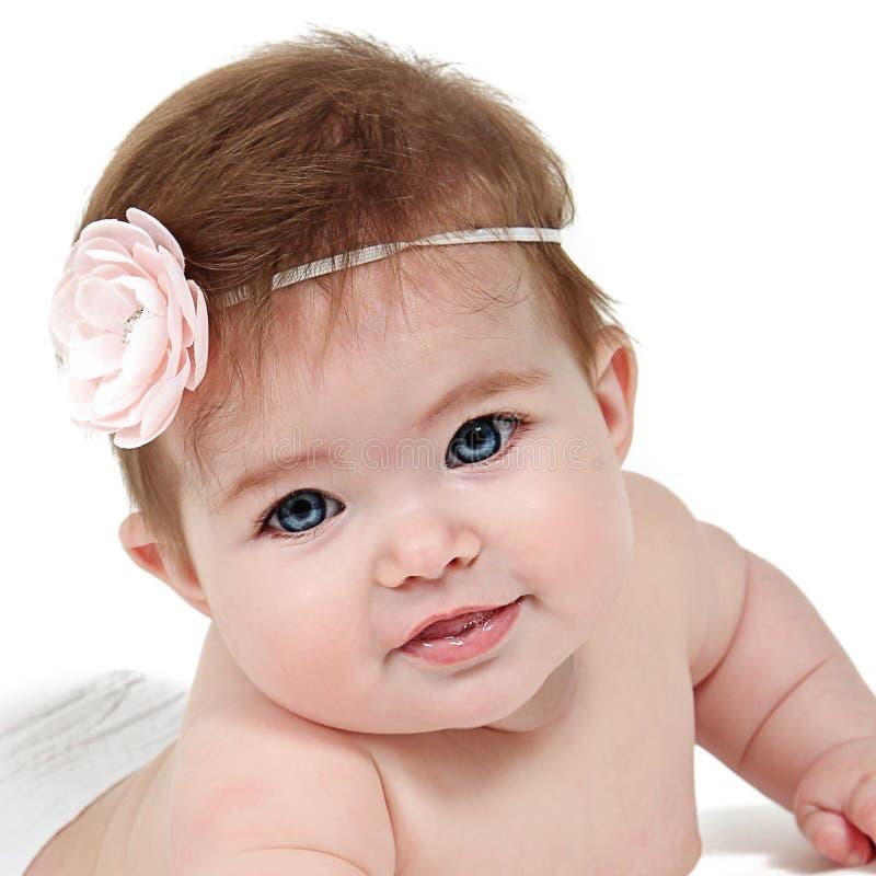 Piękna mała dziewczynka w studiu obrazy royalty free