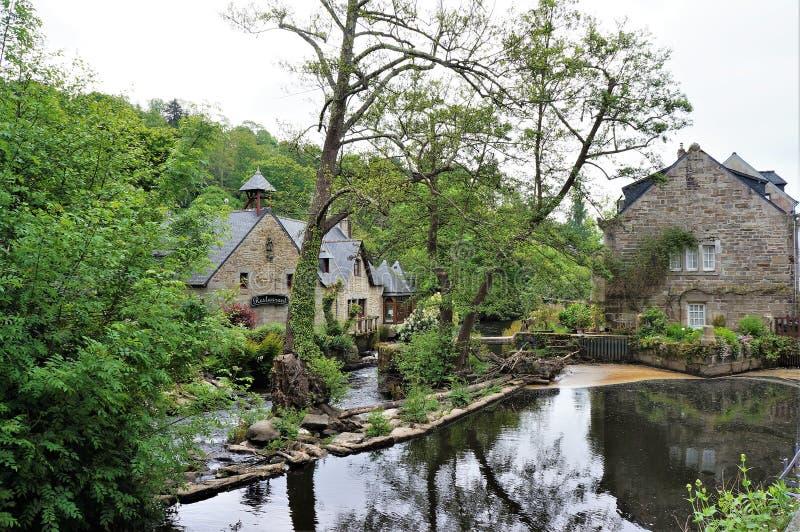 Piękna mała wioska Pont Aven w Brittany Francja obraz royalty free