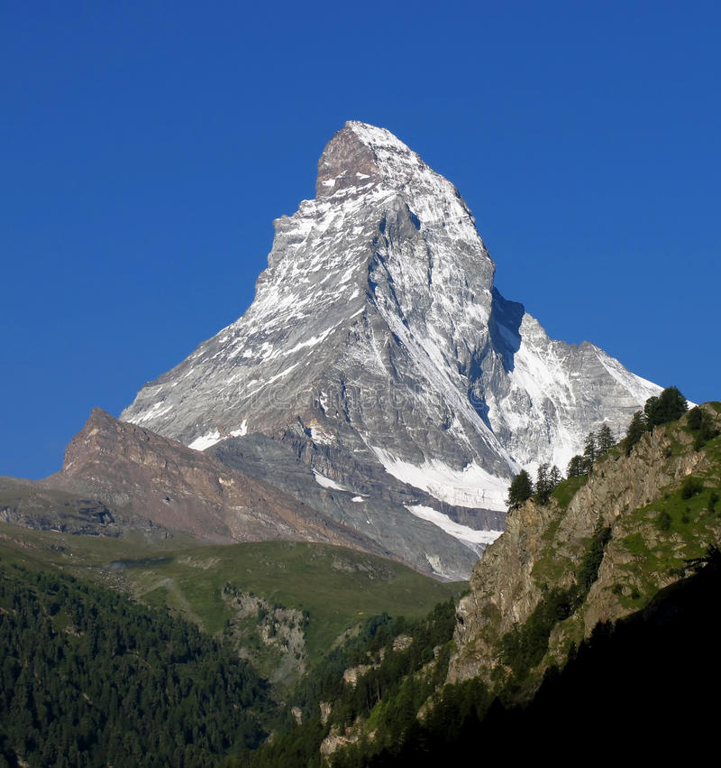 piękna majestata Matterhorn szwajcar obrazy royalty free