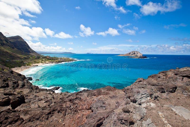 Piękna Makapu'u plaża w Hawaje obraz royalty free