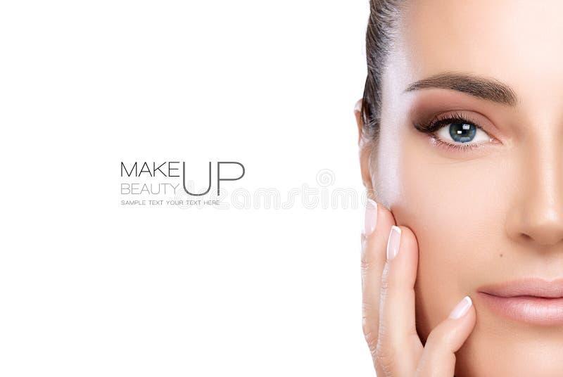 Piękna Makeup i gwóźdź sztuki pojęcie obrazy royalty free