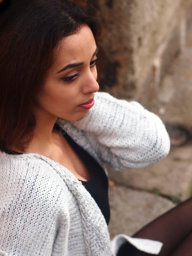 Piękna Marokańska dziewczyna w Padua zdjęcie royalty free