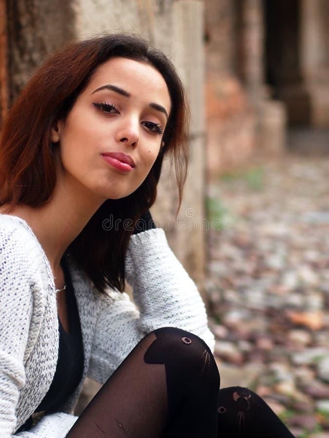 Piękna Marokańska dziewczyna w Padua obraz stock