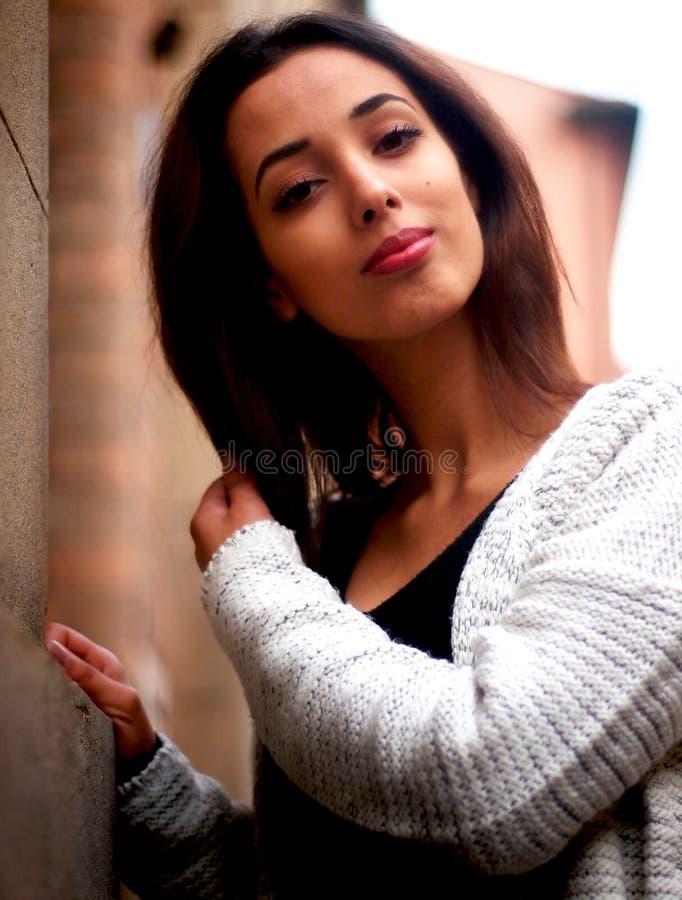 Piękna Marokańska dziewczyna w Padua zdjęcie stock
