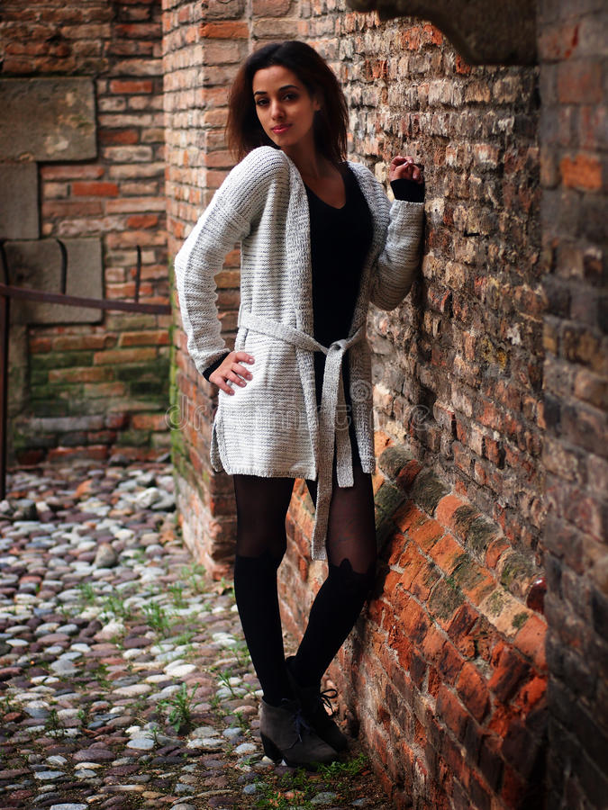 Piękna Marokańska dziewczyna w Padua fotografia royalty free