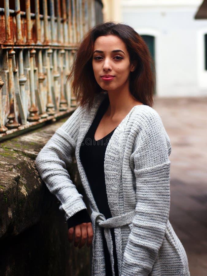 Piękna Marokańska dziewczyna w Padua obraz royalty free