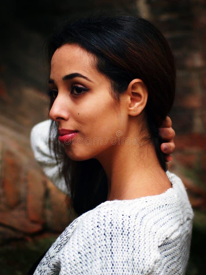 Piękna Marokańska dziewczyna w Padua fotografia stock